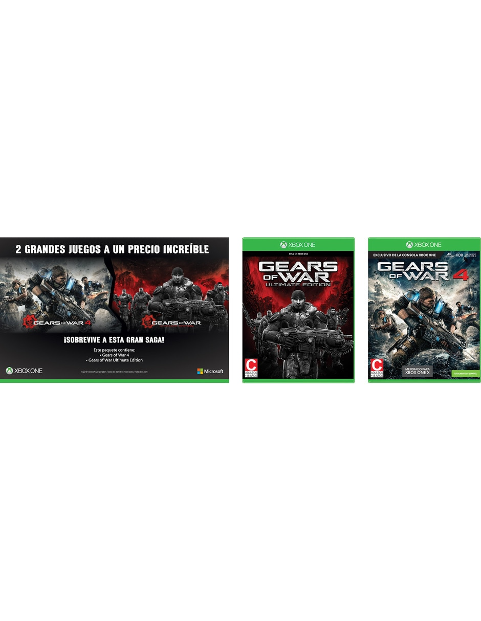 Paquete: Gears of War Ultimate Edition + Gears of War 4 Xbox One